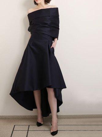 Cocktail A-Line Asymmetric Elegant Maxi Dress