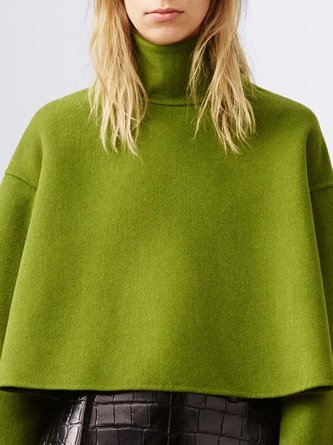 Daily Green Solid Casual Top