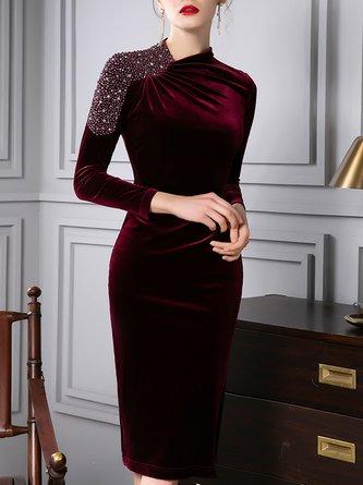 Bodycon Beaded Elegant Midi Dress