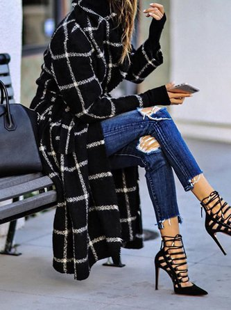 Black Elegant Long Sleeve Coat