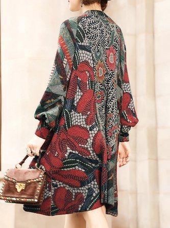 Red Shift Daily Floral Elegant Midi Dress