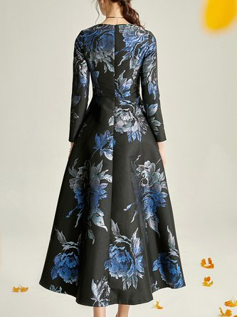Floral A-Line Party & Evening Elegant Maxi Dress