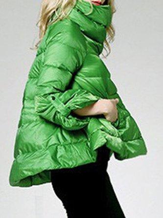 Asymmetric A-Line Elegant Down Coat