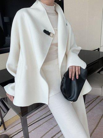 Asymmetric Slit Elegant Coat
