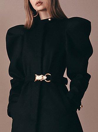 Daily Pockets Solid Elegant Coat