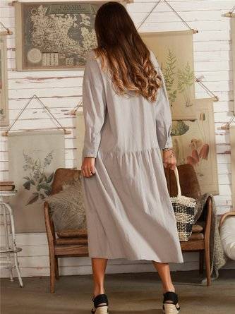 Light Gray Daily Shift Casual Dress