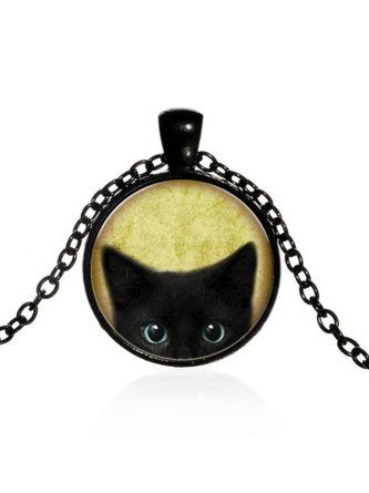 Cat Animal Casual Vintage Necklace