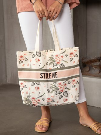 Froral Casual Shopping Shoulder Bag
