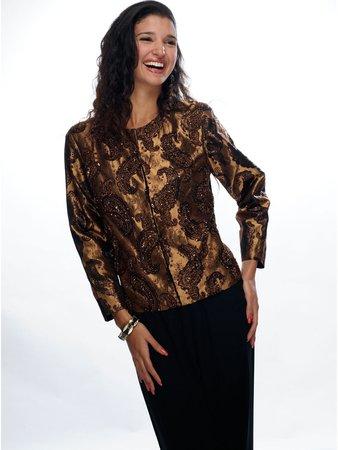 Brown Cropped Jacket - Shop Online | StyleWe