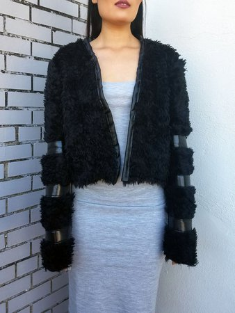 Short Black Fur Coat - Shop Online | StyleWe