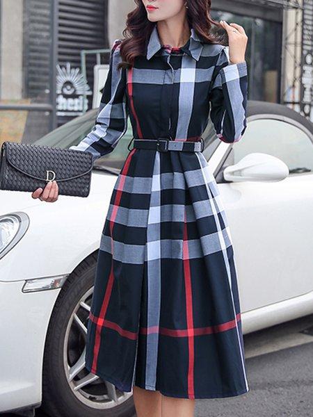 Stylewe Plus Size Midi Dress Daily Dress Long Sleeve