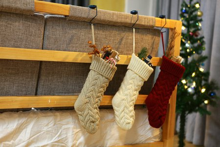 Free shipping】Knitted Woolen Hanging Gift Bag Twist Leaf Flower