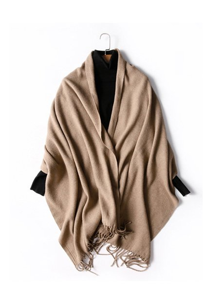 Solid Wool Blend Scarf