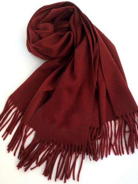 Casual Solid Wool Scarf