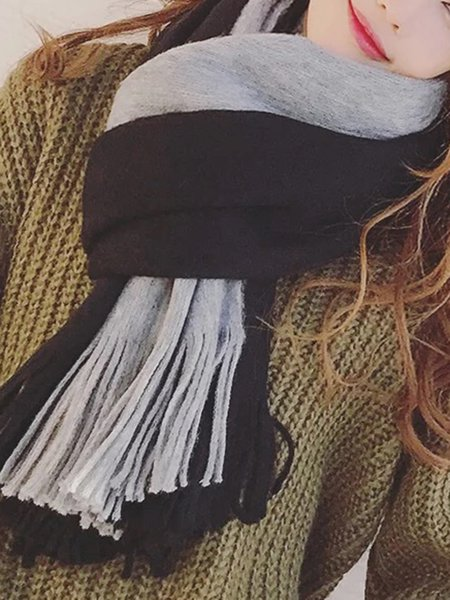Casual Wool Blend Scarf