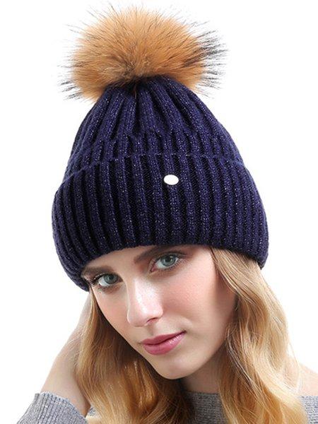 Plain Casual Cashmere Hat