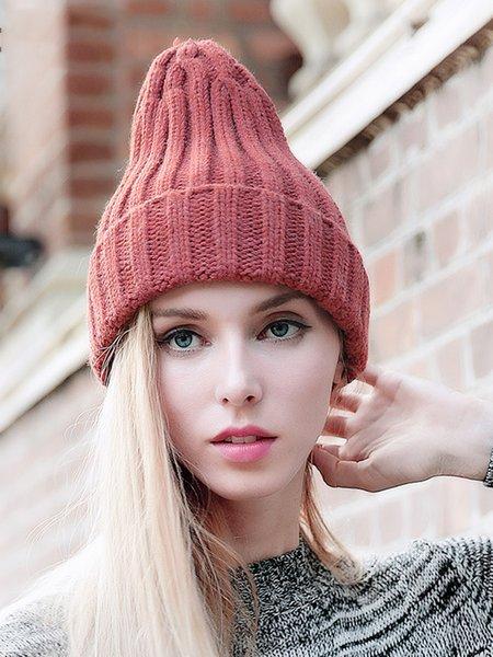 Casual Plain Acrylic Hat