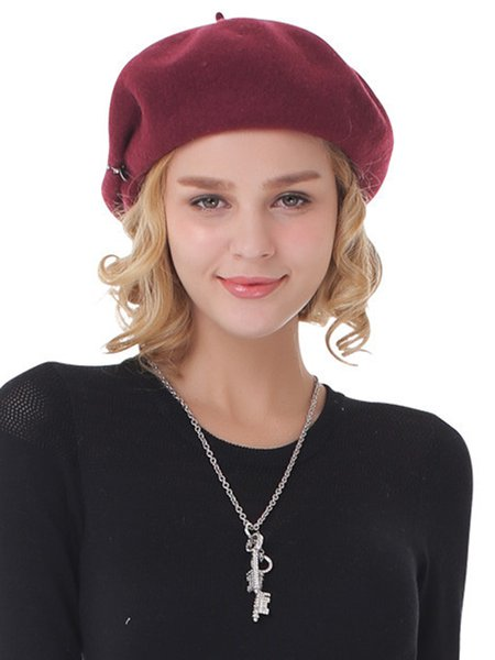 Wool Blend Solid Hat