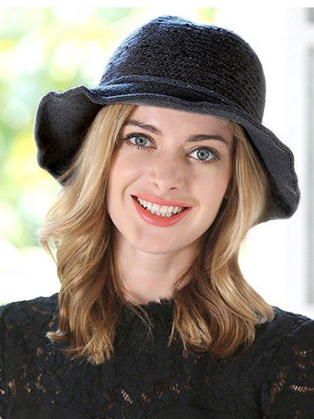 Plain Wool Blend Casual Hat