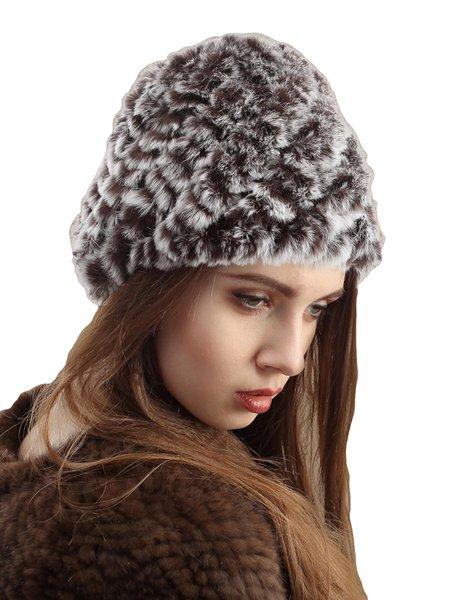 Faux Fur Plain Hat