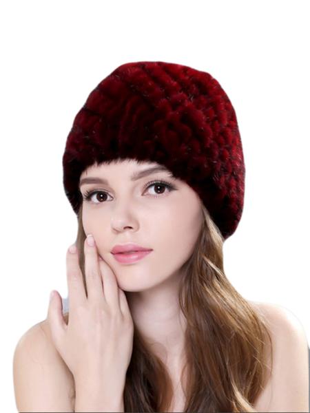 Plain Faux Fur Casual Hat