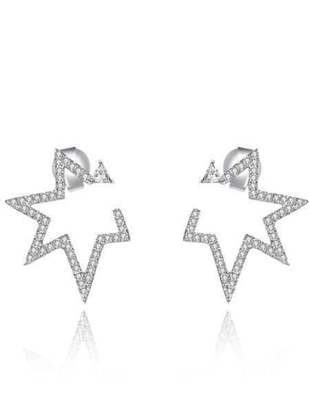 Silver Star 925 Sterling Silver Earrings