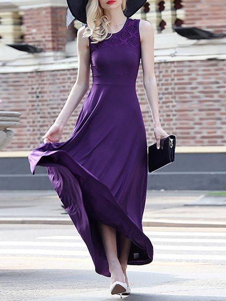 Sleeveless Crocheted Simple Maxi Dress