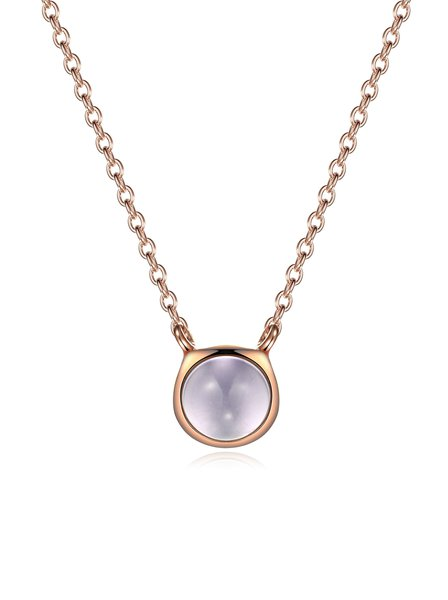 Rose Gold Round 18k Gold Plated Zircon Lively City Necklace