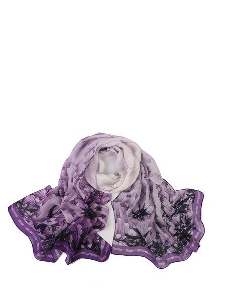Plant Pattern Casual Silk Scarf