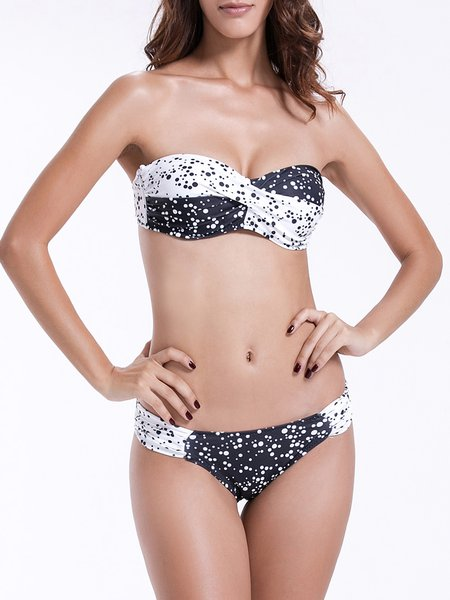 Push Up Printed Polka Dots Bikini