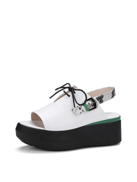 Apricot Casual Platform Sandals