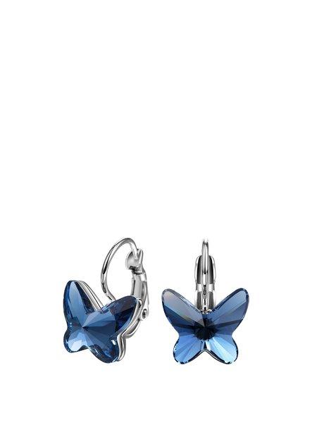 Dark Blue Butterfly Alloy Earrings