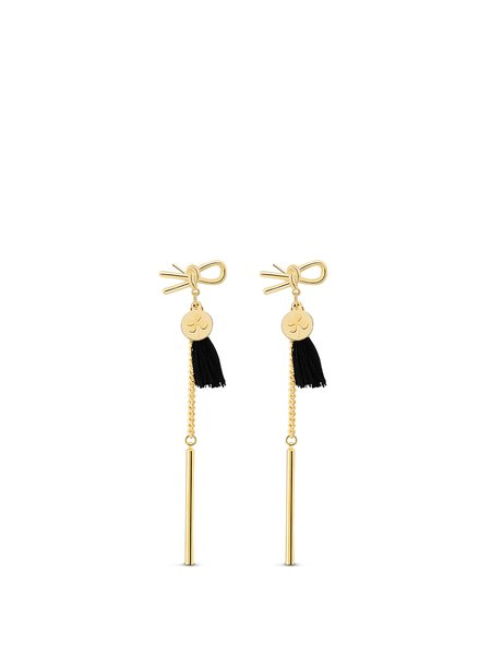 Golden Tassel Synthetic Materials Earrings