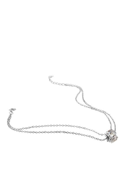 Silver-Color Round Anklet