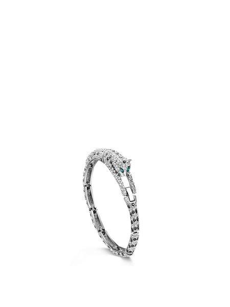 Silver 925 Sterling Silver Zircon Round Bracelet