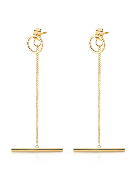 Golden Geometry Alloy Earring