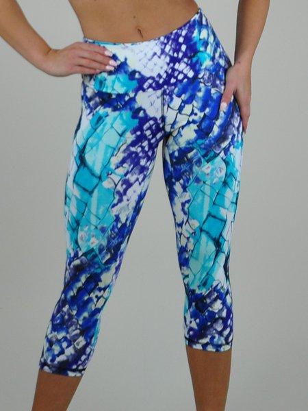 Breathable Abstrct Print Leggings