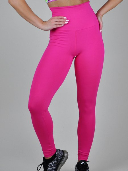 Pink High Waist Breathable Leggings