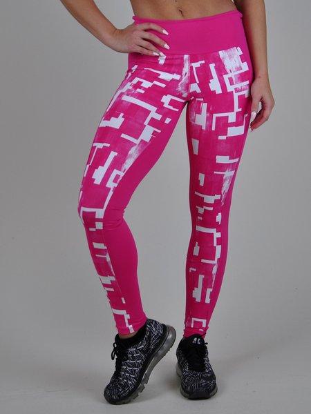 Pink Printed Quick Dry Leggings
