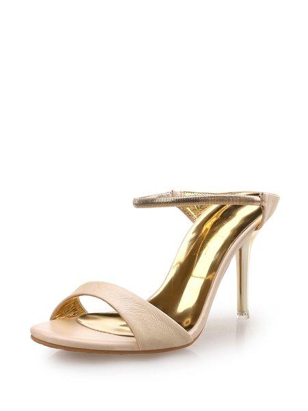 Apricot  Stiletto Heel  Sandals