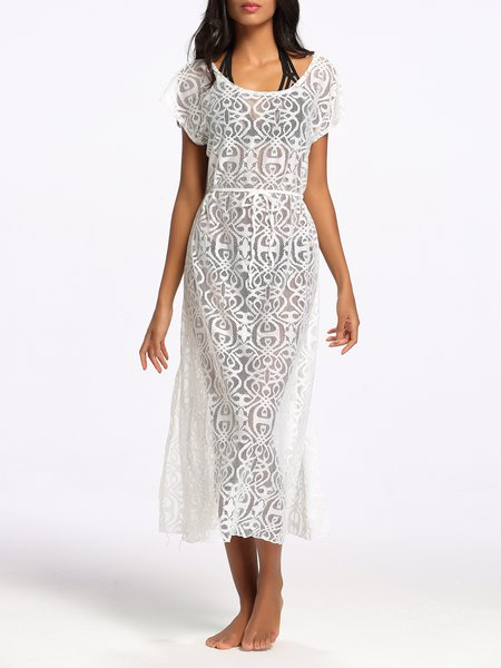 Resort Pierced See-through Look Coverup