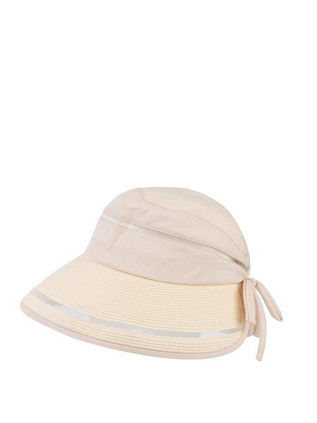 Bow Casual Linen Cotton Hat