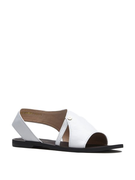 White Casual Flat Heel Comfort Sandals