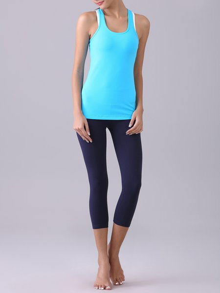 Nylon Quick Dry  Tank with Cropped Leggings