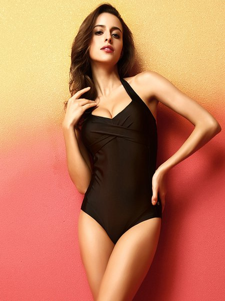 Black Padded One-Pieces&Tankini