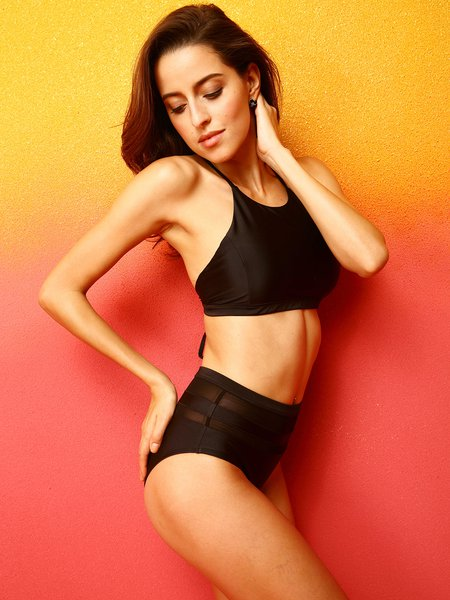 Black Straped  Cross Bikini