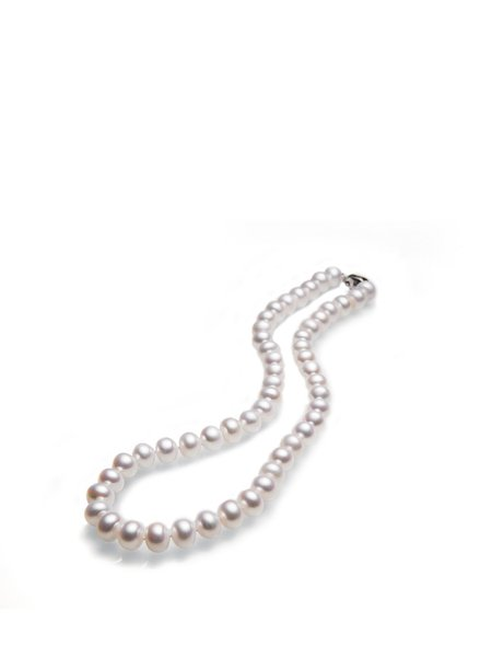 Round Silver-Color Pearl Necklace