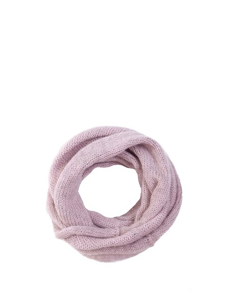Pink Girly Knitted Plain Scarf