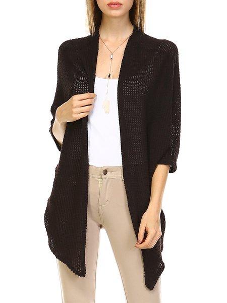 Black H-line Knitted Resort Cardigan