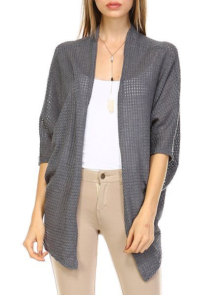Half Sleeve Resort Knitted Cardigan